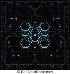 grafico, utente, futuristico, interface.