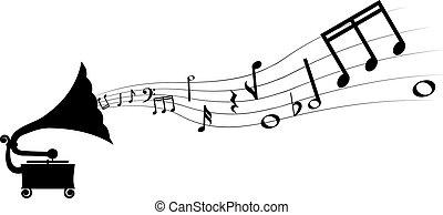 grammofono, melodia