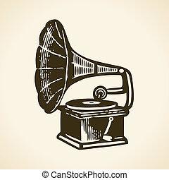 grammofono, retro