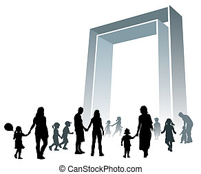 grande, cancello