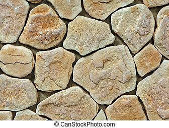 grande, parete, struttura pietra