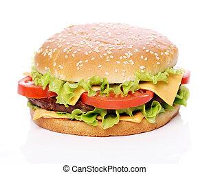 grande, saporito, hamburger