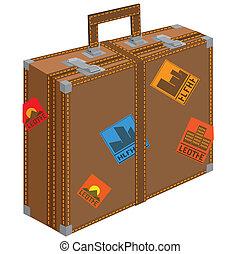 grande, travel., valigia