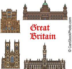 grande, viaggiare, gran bretagna, magro, inglese, punto di riferimento, icona