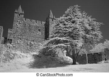 granito, castello, medievale