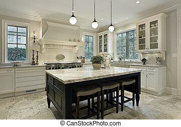 granito, cucina, countertops