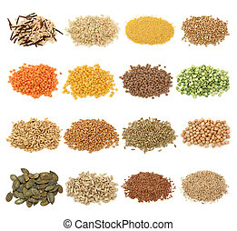 grano, cereale, semi, collezione