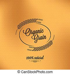 grano, fondo, organico, disegno, vendemmia