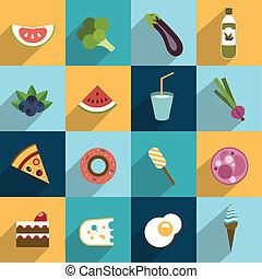 grasso, collezione, dieta, cibo.