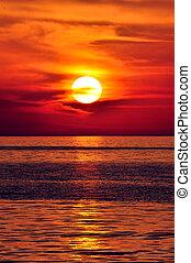 greece., creta, sunset.