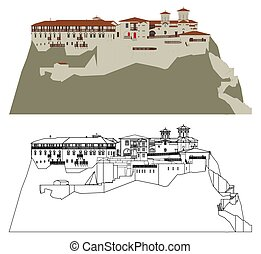 greece., monastero, meteora, varlaam