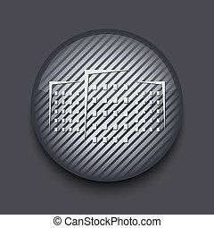 grigio, 10, app, eps, fondo., vettore, strisce, cerchio, icona