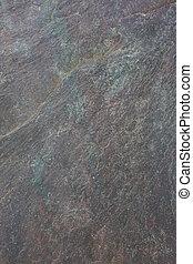 grigio, ardesia, sfondo verde, roccia