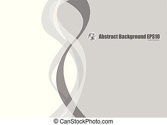 grigio, astratto, curva, fondo