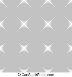 grigio, fondo., seamless, stelle, modello
