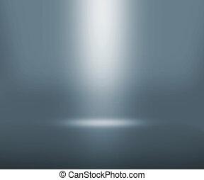 grigio, riflettore, stanza
