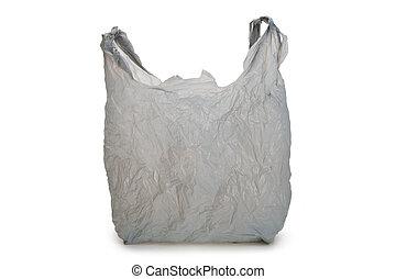 grigio, sacchetto di plastica