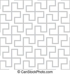 grigio, semplice, astratto, pattern., seamless, vettore, geometrico, backgrou