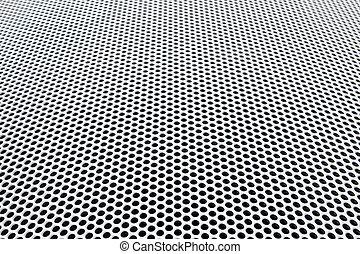 griglia metallo, prospettiva