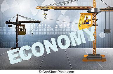 gru, sollevamento, economia, parola