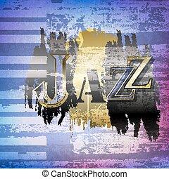 grunge, astratto, jazz, parola, fondo