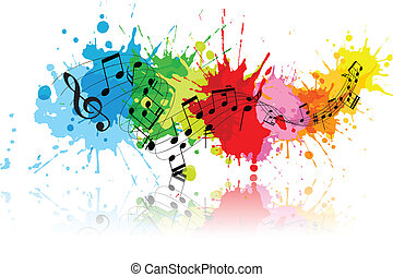 grunge, astratto, musica