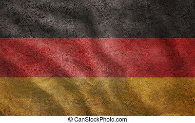 grunge, bandiera, accidentato, germania