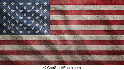 grunge, bandiera, accidentato, stati uniti