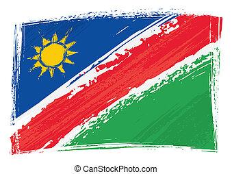 grunge, bandiera, namibia