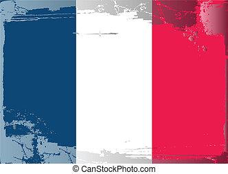 grunge, bandiera, series-france