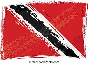 grunge, bandiera, tobago, trinidad