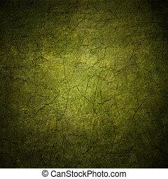 grunge, colorito, astratto, struttura, scuro, carta, sfondo verde, o