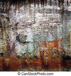 grunge, fondo, rusty-colored