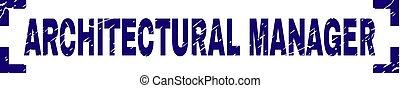 grunge, francobollo, angoli, dentro, sigillo, direttore, architettonico, textured