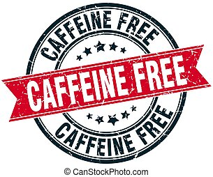 grunge, francobollo, caffeina, libero, rotondo, nastro