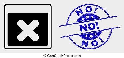 grunge, francobollo, no!, domanda, finestra, vettore, sigillo, chiudere, icona