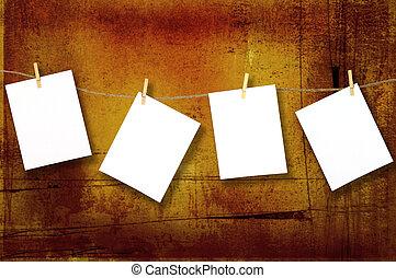 grunge, giusto, carte, aggiungere, appendere, messaggio, tuo
