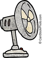 grunge, illustrazione, desktop, ventilatore, textured, cartone animato