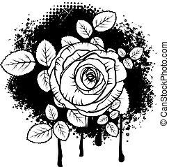 grunge, rosa, disegno
