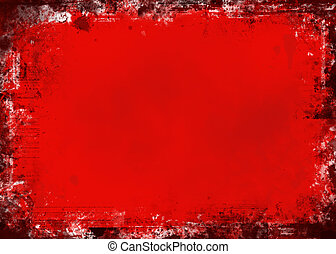 grunge, rosso
