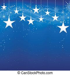 grunge, sfondo blu, neve, elements., natale, festivo, scuro, stelle, fiocchi