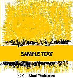 grunge, sfondo giallo