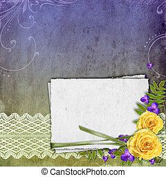 grunge, spazio, rosa, textured, sfondo giallo, testo