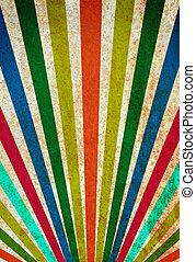 grunge, vendemmia, raggi sole, multicolor, fondo, poster.