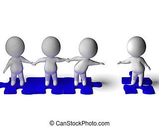 gruppo, affiatamento, mostra, amicizia, amico, accoppiamento