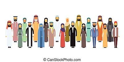 gruppo, arabo, persone affari, arabo, squadra