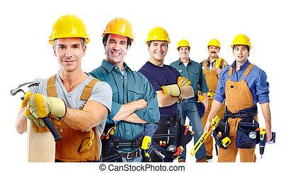 gruppo, industriale, workers.