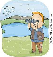 guardare uccello