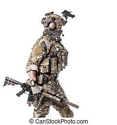 guardia forestale, uniforms, esercito, campo