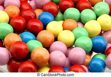 gumball, colori, fondo
